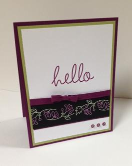 Colored Embossing